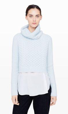Leala Cropped Sweater - Club Monaco Pullover - Club Monaco