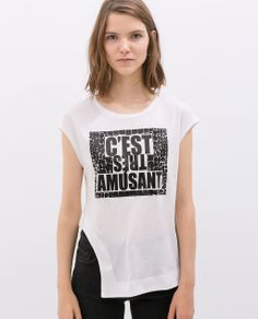 Image 1 of SLOGAN T-SHIRT from Zara