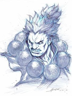 Akuma Bust Sketch by alvinlee on DeviantArt