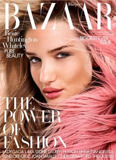 Rosie Huntington-Whiteley - Harper's Bazaar - September - David Slijper - 2014