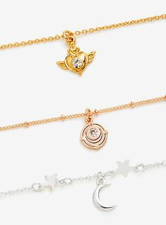 Sailor Moon Gold & Silver Choker Set - BoxLunch ExclusiveSailor Moon Gold & Silver Choker Set - BoxLunch Exclusive,