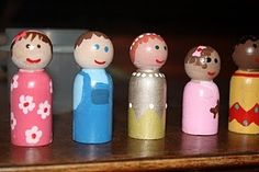 Easy to make multicultural dolls!  You could even have the kids make their own set to use.