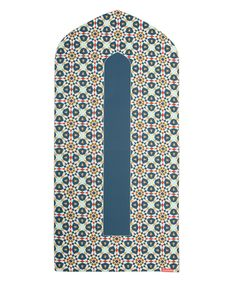 Geometric denim arch-shaped prayer mat rug - Great Britain | Islamic Design House