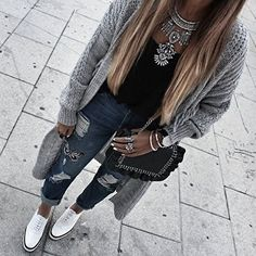 Bold Statement Necklace In Silver #outfitoftheday #fashion -  22,90 € @happinessboutique.com