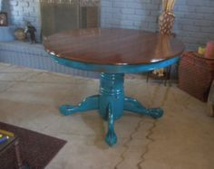 clawfoot table and chairs painted - Google Search