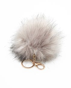 Large Faux Fur Pom Pom Keychain | Wet Seal, Idk why these are everywhere atm but i think i need one for my keys.