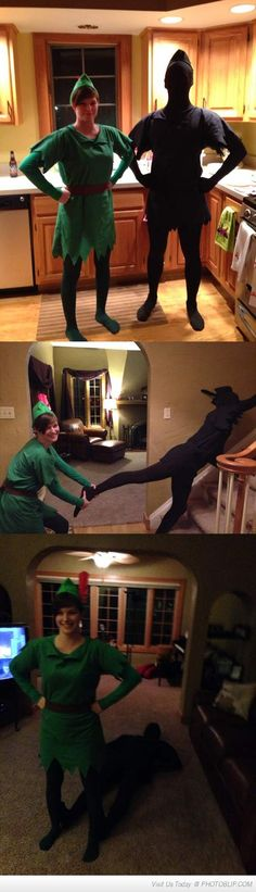 Peter Pan and His Shadow!! :D