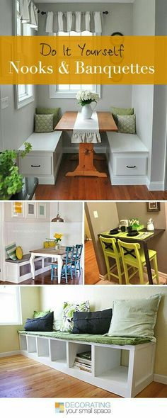 The 11 best tricks for small space living pinterest small spaces if you don want a nook now you will by the time you done reading this article about diy nooks and banquettes solutioingenieria Gallery