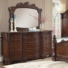 Caprice Triple Dresser and Mirror