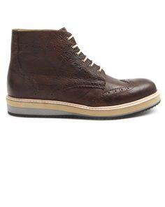 25489c2892fa4 Boots à lacet camel British Brogue KNOWLEDGE COTTON APPAREL homme Bottes et  boots camel homme