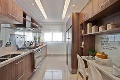 10 Cozinhas brancas e amadeiradas - veja modelos lindos e dicas! - DecorSalteado