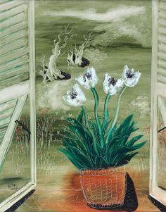REUVEN RUBIN (1893-1974) Flowers on the Window Sill