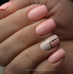 The Manicure Everyone Is Trying This Year : Fantastic pink nail polish Neutral Nail Polish, Pink Nail Polish, Pink Nails, My Nails, Nail Polishes, Cute Nail Colors, Cute Nails, Pretty Nails, Short Nail Designs