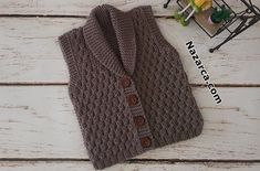 Baby Sweater Knitting Pattern, Knit Vest Pattern, Baby Knitting Patterns, Stitch Patterns, Knitted Baby Clothes, Crochet Clothes, Knitting For Kids, Hand Knitting, Baby Vest