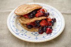 Rezept Walnuss-Pancakes mit Beeren