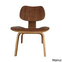 The LCW lounge chair was originally designed in the 1940's, made of thin sheets of wood veneer formed under heat and pressure. The molded seat and back is designed to comfortably fit the body. (=)
