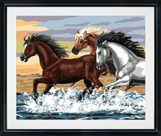 Plaid 21703 Paint By Number Kit, Mesa Horses, 16-Inch by 20-Inch by Plaid. $18.99. Easy to follow instructions. Perfect for all skill levels. Allow anyone to create stunning masterpieces. No blending required. Superbly detailed classic designs. Plaid Paint by Number kit. Kit contains: Acrylic paint, pre-printed textured art board, paintbrush, trilingual instructions and chart. Finished size: 16-inch X 20-inch