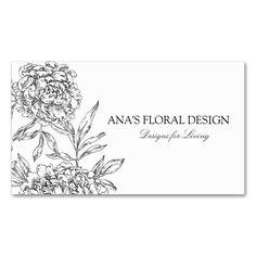 Elegant Floral Business Cards
