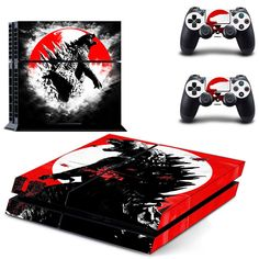 Godzilla ps4 skin decal for console and controllers dualshock – Decal Design