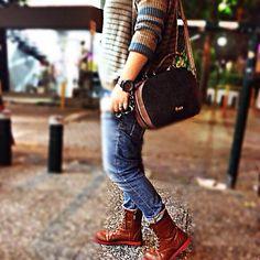 Total look by Doca #street #fashion #bag #shoes #style  #woman #fw1314 #knitwear #greece www.doca.gr