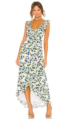 Milk Summer Dress with Floral Print  Cream Middle Dress