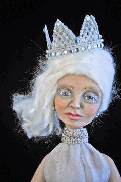 Gemma - a OOAK polymer clay sculpted art doll by Honeysuckledolls.
