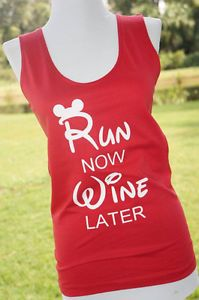 Run Now Wine Later Run Disney Running Tank Perfect for the Wine and Dine Half Marathon #Rundisney #wineanddine #halfmarathon