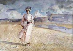Woman walking on sand - Henry Tonks1910British 1862-1937