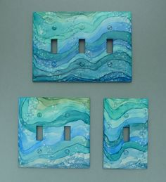 Blue Ocean Waves Choose Your Size and Style of by NinaDusaDesign