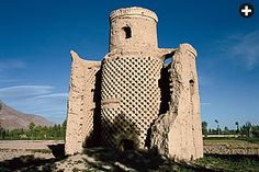 Isfahan Iran An abandoned tower shows a typically honeycombed interior that could house 5000 to 7000 pigeons. To the birds, the towers offered refuge from nocturnal predators.