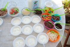 ice cream party - activities, design and dessert table