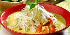 Resep Laksa Bogor, Kuliner Nikmat Khas Kota Bogor Ground Beef Recipes For Dinner, Easy Dinner Recipes, Easy Meals, Asian Recipes, Ethnic Recipes, Laksa, Hot Soup, Bogor, Indonesian Food