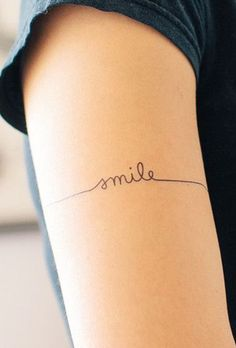 Small Smile tattoo for right index finger - Photography Black Girls With Tattoos, Tattoos For Women Small, Small Tattoos, Small Meaningful Tattoos, Dainty Tattoos, Pretty Tattoos, Beautiful Tattoos, Dream Tattoos, Future Tattoos