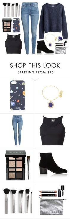 """""""The stars, the moon, they have all been blown out. You left me in the dark."""" by povring ❤ liked on Polyvore featuring FeFè, Alex and Ani, MTWTFSS Weekday, H&M, Lost & Found, Bobbi Brown Cosmetics, rag & bone and NOVICA"""