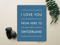 I Love You From Here To SWITZERLAND art print