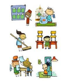 Encarregats Classroom Organisation, Classroom Management, Organisation Administrative, Daily Schedule Preschool, Party Fiesta, English Classroom, Class Decoration, Word Doc, Clipart