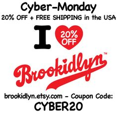 20% OFF all Brookidlyn. Today Only!  Use code: CYBER20