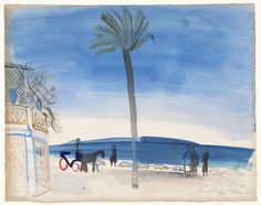 Raoul Dufy The Palm, watercolor and gouache on paper, 50 x cm Raoul Dufy, Disney Concept Art, Fauvism, Post Impressionism, Henri Matisse, Film Stills, Moma, Art Sketchbook, Manet