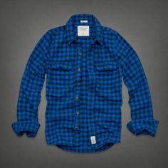 Mens Railroad Notch Flannel Shirt | Mens Shirts | Abercrombie.com