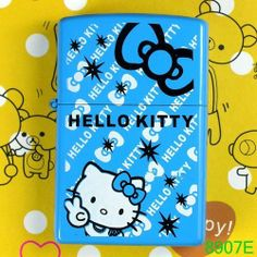 blue Hello Kitty figure Flip Top fire oil lighter