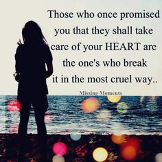 those who once promised