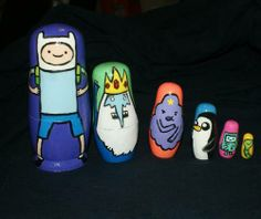 and the other side ^_^ I made this for an Adventure Time craft swap!