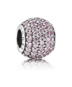 b17ef3347 PANDORA Charm - Sterling Silver and Cubic Zirconia Clear Pave Lights,  Moments Collection