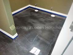 Floors that are a visual treat! #Epoxy #Black #Flooring #Decor