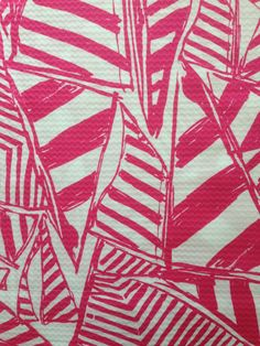 """lilly pulitzer's capri pink yacht sea dobby cotton fabric square 18""""x18"""" by lillybelledesigns, $11.25 @ lillybelledesigns.etsy.com"""