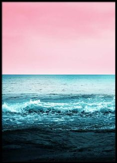 Pink Sky Beach Poster in the group Prints / Sizes / 50x70cm   20x28 at Desenio AB (3830)