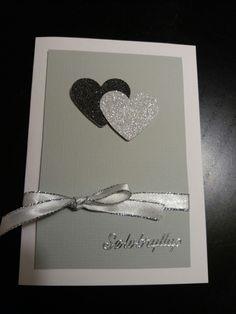 Invitation til sølvbryllup Paper Cards, Scrap, Manualidades, Pictures, Map Wedding, Creative, Deco