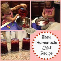 Cooking with Kids - Easy Homemade Jam Recipe