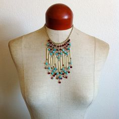 Sunset- Fringe Porcupine Quill Necklace. $68.00, via Etsy.