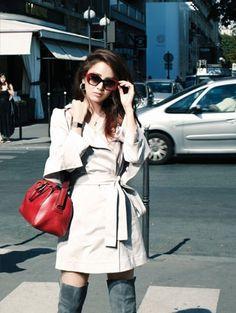 Kim Tae Hee Modern Chic for JLOOK Photo Shoot in Paris